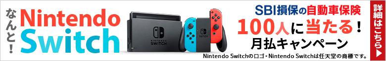 月払で契約するとNintendo Switchが100人に当たる!月払でSwitch!キャンペーン